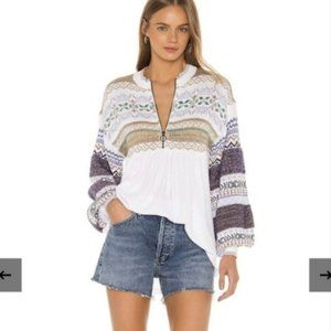 Free People White Cozy Cottage Sweater Size XL